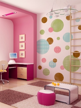 February 2013 house furniture for Polka dot bedroom designs
