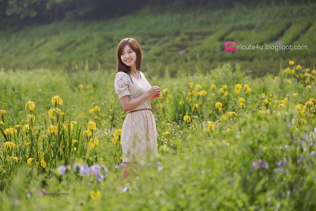 1 Chae Eun - Lovely Outdoor - very cute asian girl - girlcute4u.blogspot.com