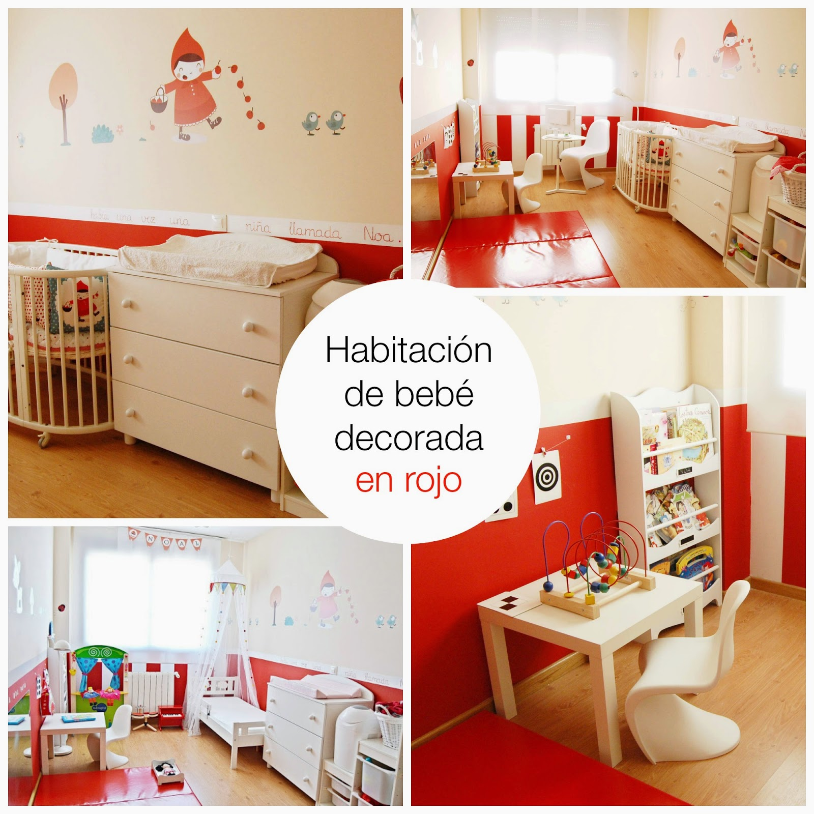 habitacion de bebe decorada en rojo blog niños mama de noa decoracion infantil
