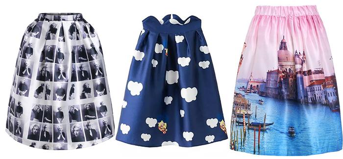 Sheinside midi skirt