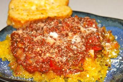 Spaghetti Squash & Six Cheese Tomato Sauce
