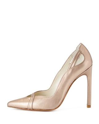 Stuart Weitzman High heeled metallic pumps