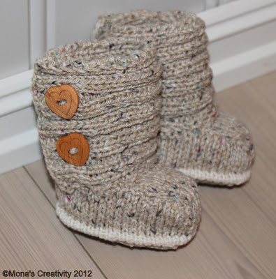 Knitted Baby Uggs Pattern : Monas Creativity: Jaden Knitted Baby boots