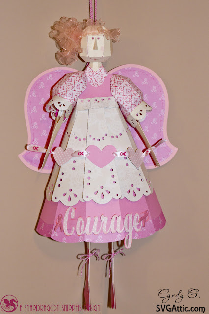 3d paper Breast Cancer Angel