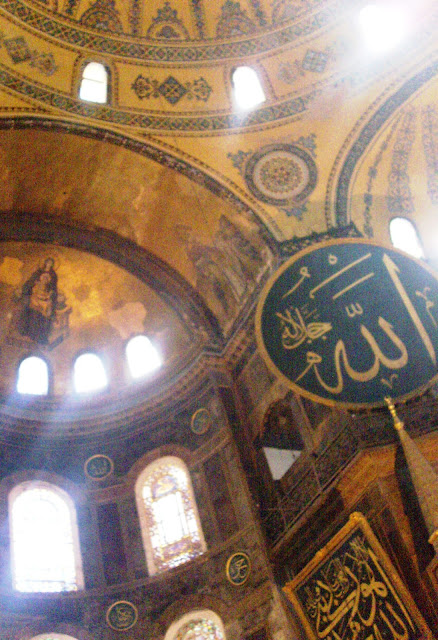 A view of the caliphs and the Hagia Sophia Dome