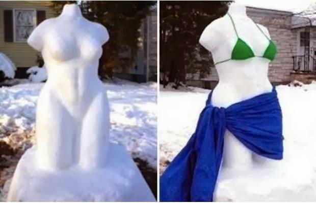 Народное творчество. Снеговики
