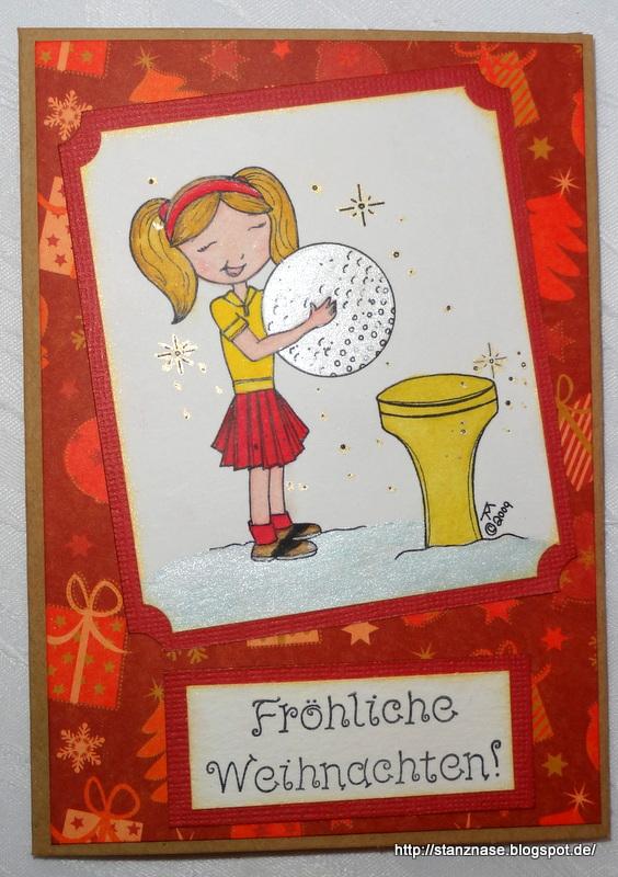 Meine motivstanzer weihnachtskarten f r golf spieler - Niedliche weihnachtskarten ...