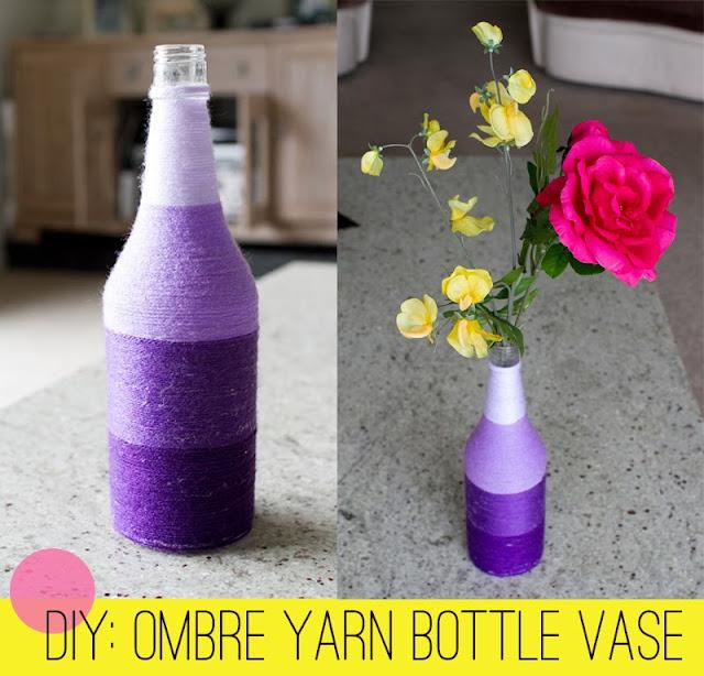 Вазы из пластиковых бутылок и ниток своими руками 98