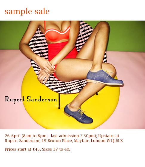 Rupert Sanderson sample sale