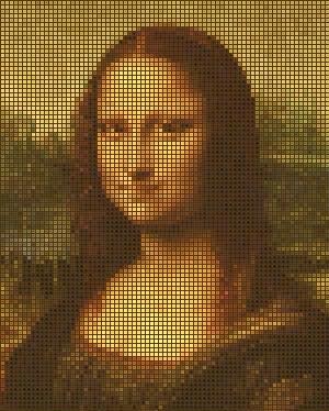 mona lisa mozaik efekt