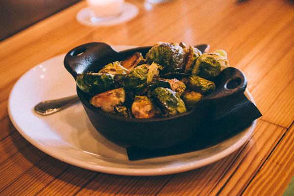Brussel sprouts at Pinewood Social in Nashville Tennessee