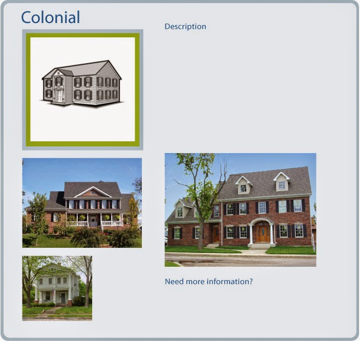 Interior decorating pics architectural styles of homes for Types of colonial homes