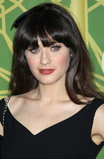 2012 Zooey Deschanel Hairstyles
