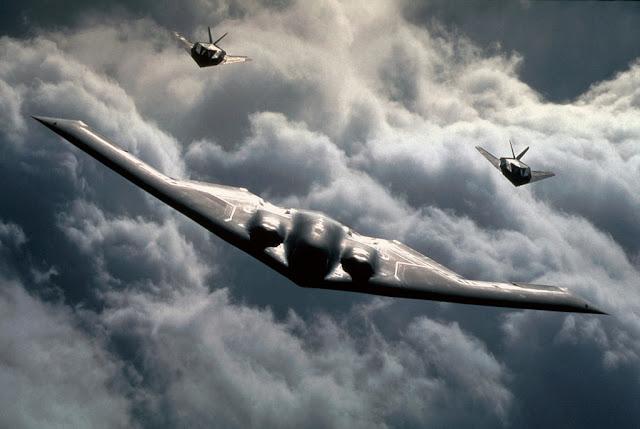 B-2 Spirit and f-117