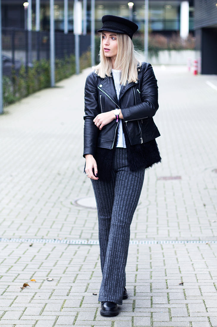Fashion Attacks outfit ootd Topshop Daniel Wellington flare trousers