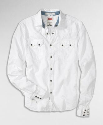 Men fashion dresses white herringbone levi 39 s shirt men for White herringbone dress shirt