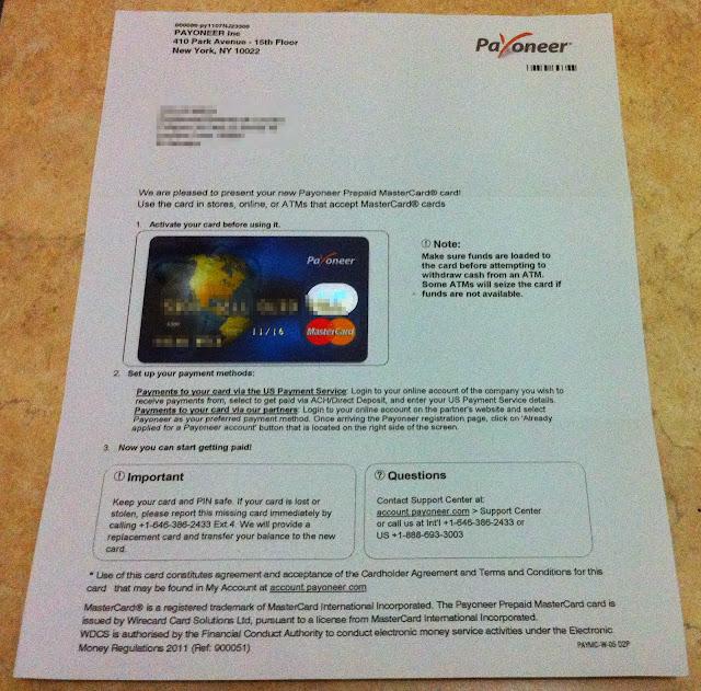 Payoneer Master Debit Card