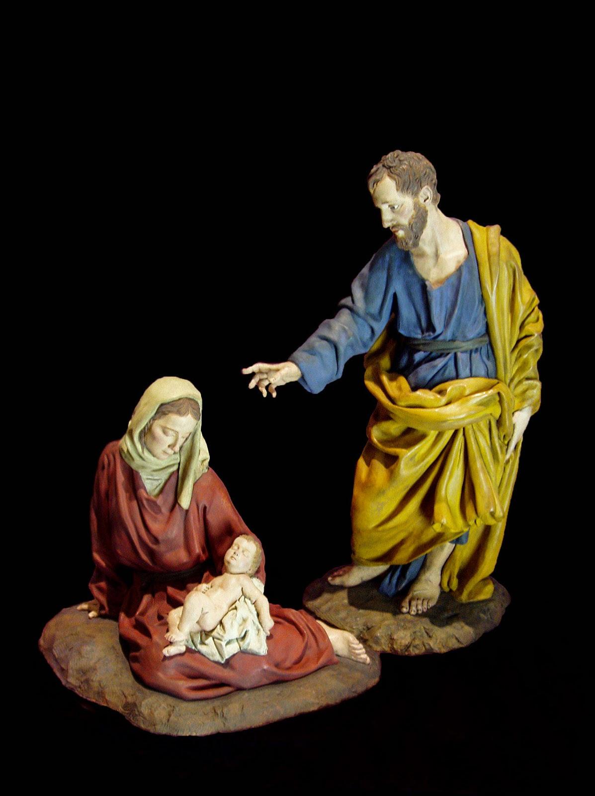 Nacimiento Belén Nativity krippe presepe Arturo Serra Gómez Barro cocido 1