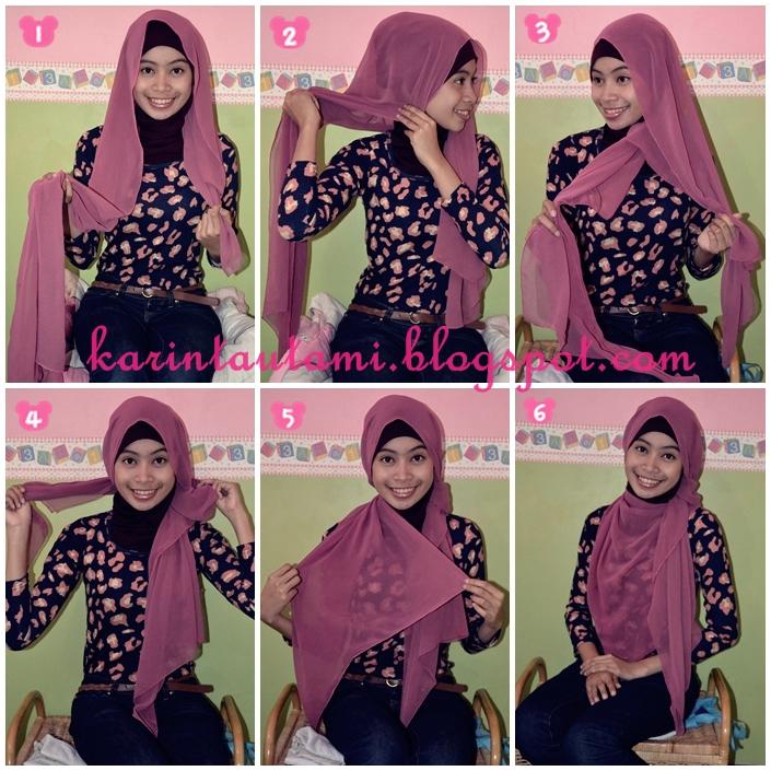 Hijab Tutorial: Chiffon shawl #4