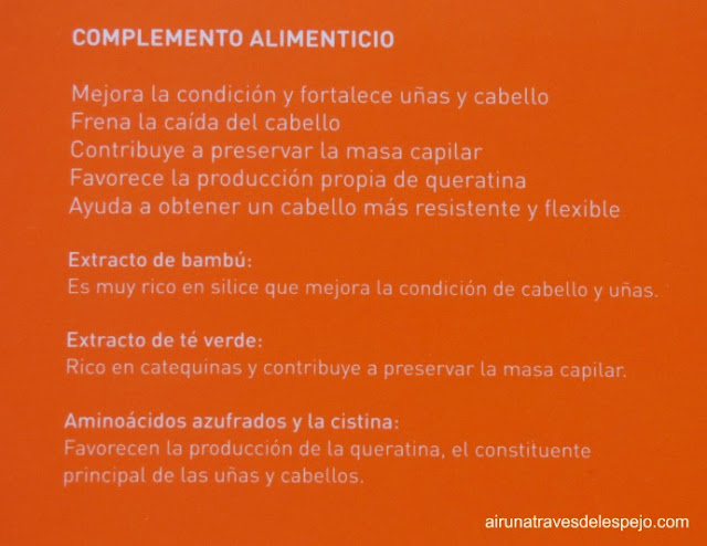 ingredientes eternal capilar nutricosmética