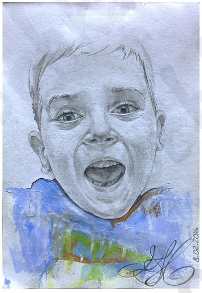 Портрет. Авторская открытка.