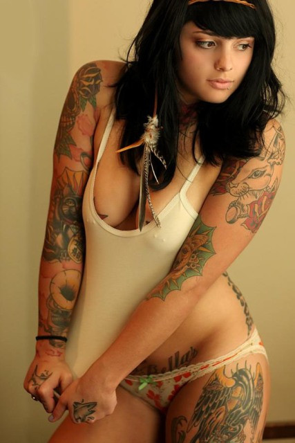 Half Body Tattoo Girls
