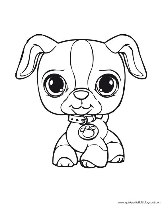 Quirky artist loft littlest pet shop free printable for Pet shop coloring pages