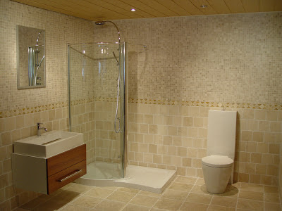 For a Mediterranean bathroom look, mix terra-cotta tiles with Mexican ...