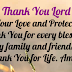 THANK YOU LORD FOR YOUR LOVE AND PROTECTION