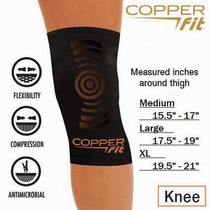 copper fit compression sleeve measurements