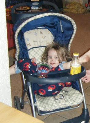 Sasha in Stroller