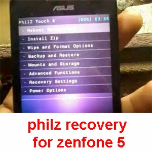 Latest philZ recovery for Asus zenfone 5