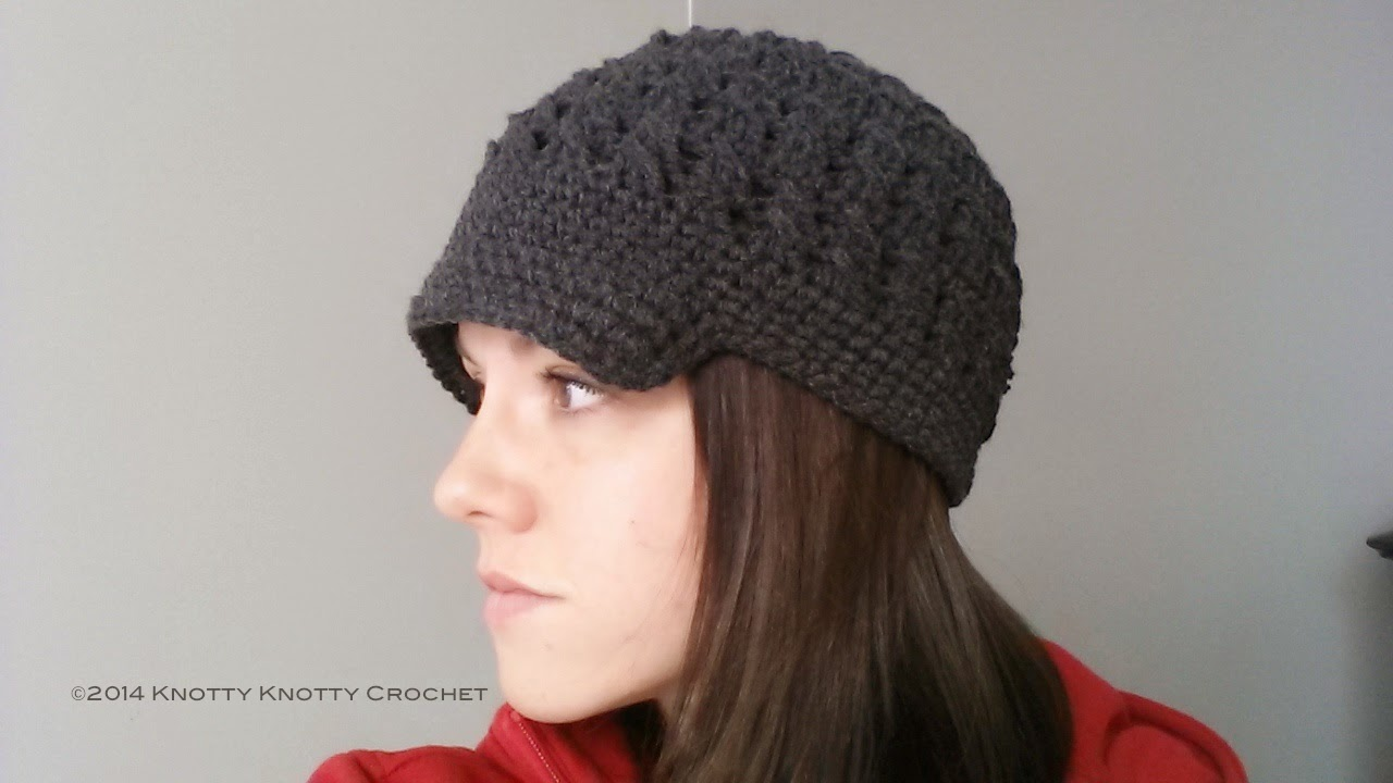 2ebc7f93627 Knotty Knotty Crochet  Ladies Newsboy hat. FREE PATTERN!