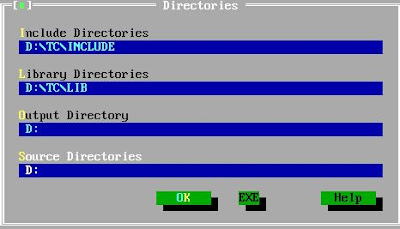 turbo c directories