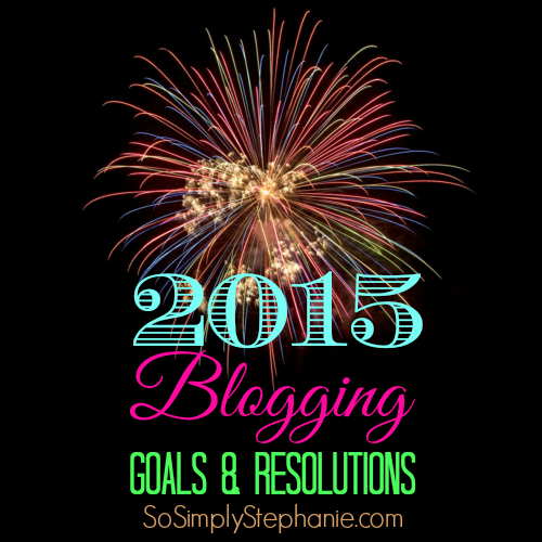 2015 blogging goals and resolutions