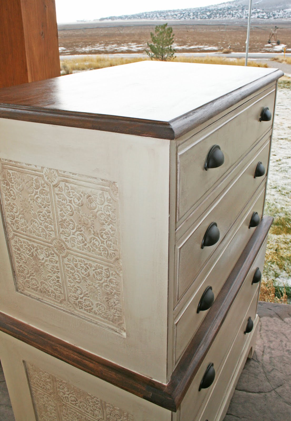 Antique Recreation Chest On Chest Dresser Redo