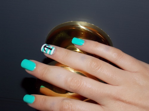 china glaze sunsational yacht handle nail art blog beauté psychosexy