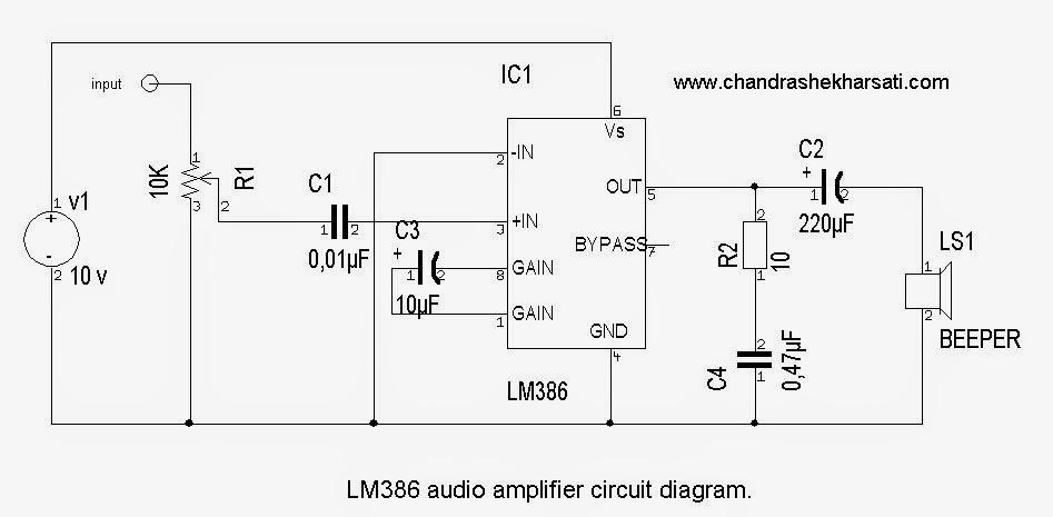 lm386 audio amplifier circuit instructables