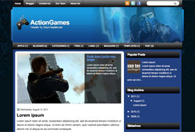 ActionGames Blogger Template