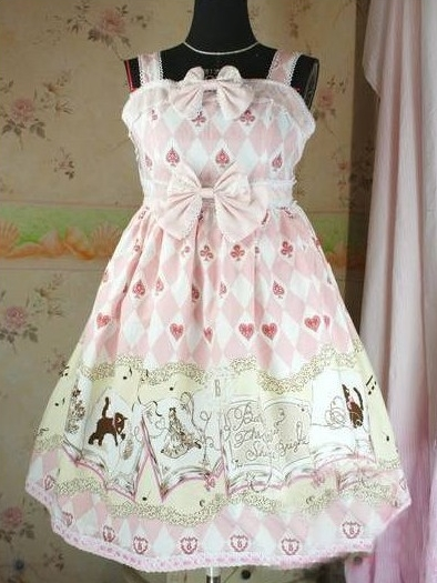 Sweet Printed Bow Rococo Lolita Dress