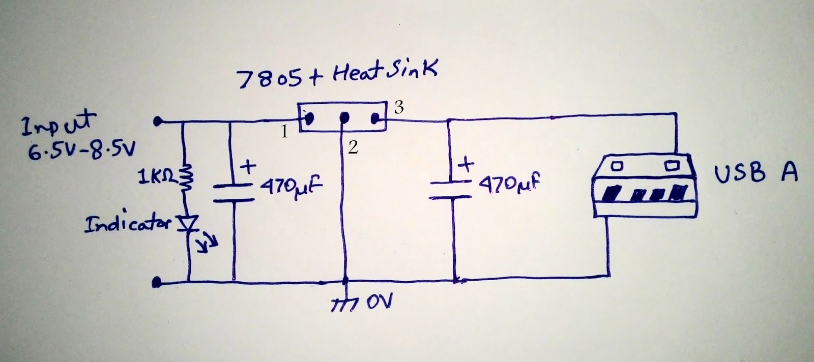 Scavengers Blog Diy Powerbank 2014 7805 Circuit Diagram This Probably Is The Simplest That Will Work Just Fine But Problem Current Output Limited To 1a And Chip Get A Bit Hot