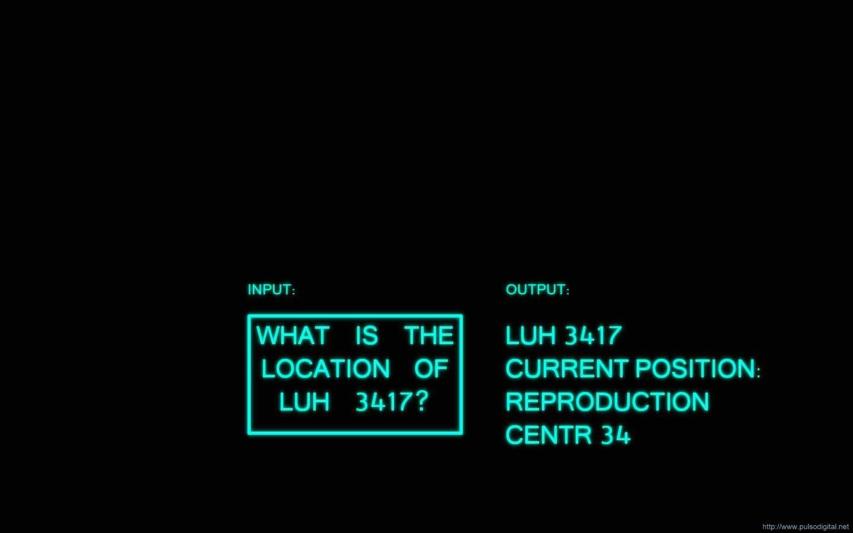 Fondo de pantalla de THX 1138 - ¿En dónde está LUH 3417?