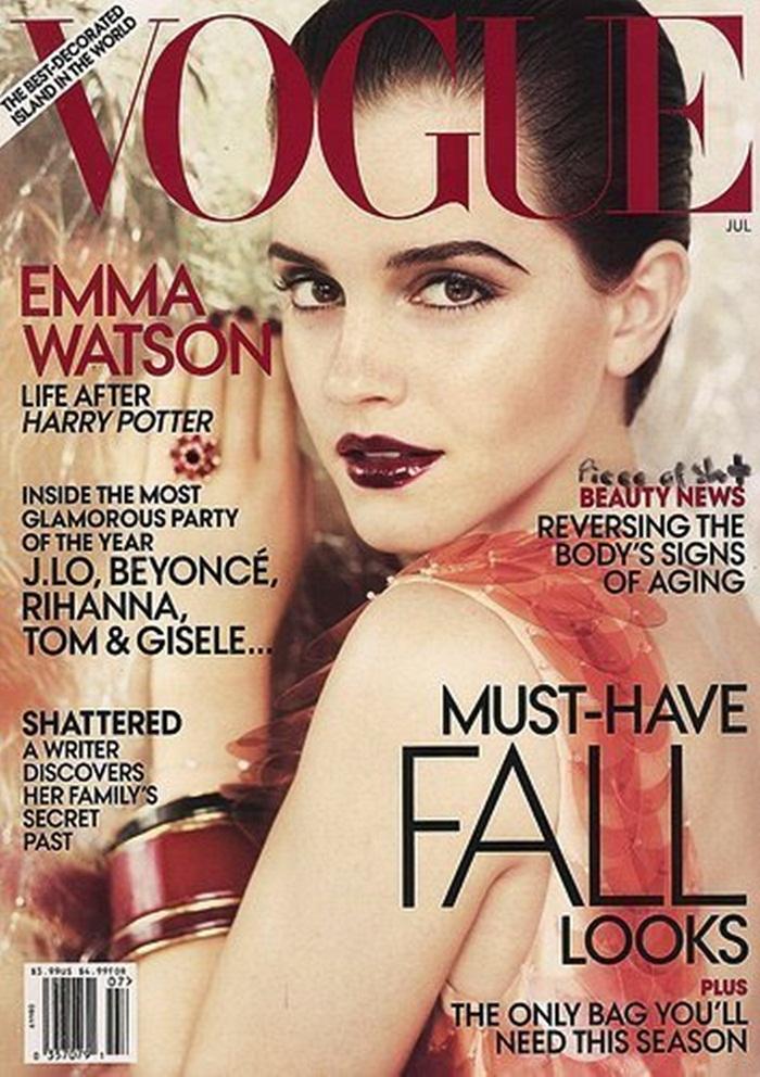 emma watson vogue 2011 cover. 2011 Emma Watson Vogue Cover