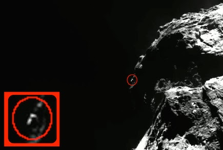 Huge UFO Captured Flying Away From Comet 2015, UFO Sightings