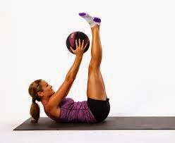 Double Crunch Pulse With Medicine Ball Abs Workout