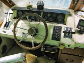 Fly Deck Steering Wheel Throttle Transmission Carver Mariner