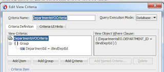 ViewCriteria to filter VewObject