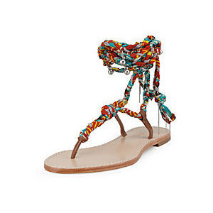 Sigerson Morrison African print sandals