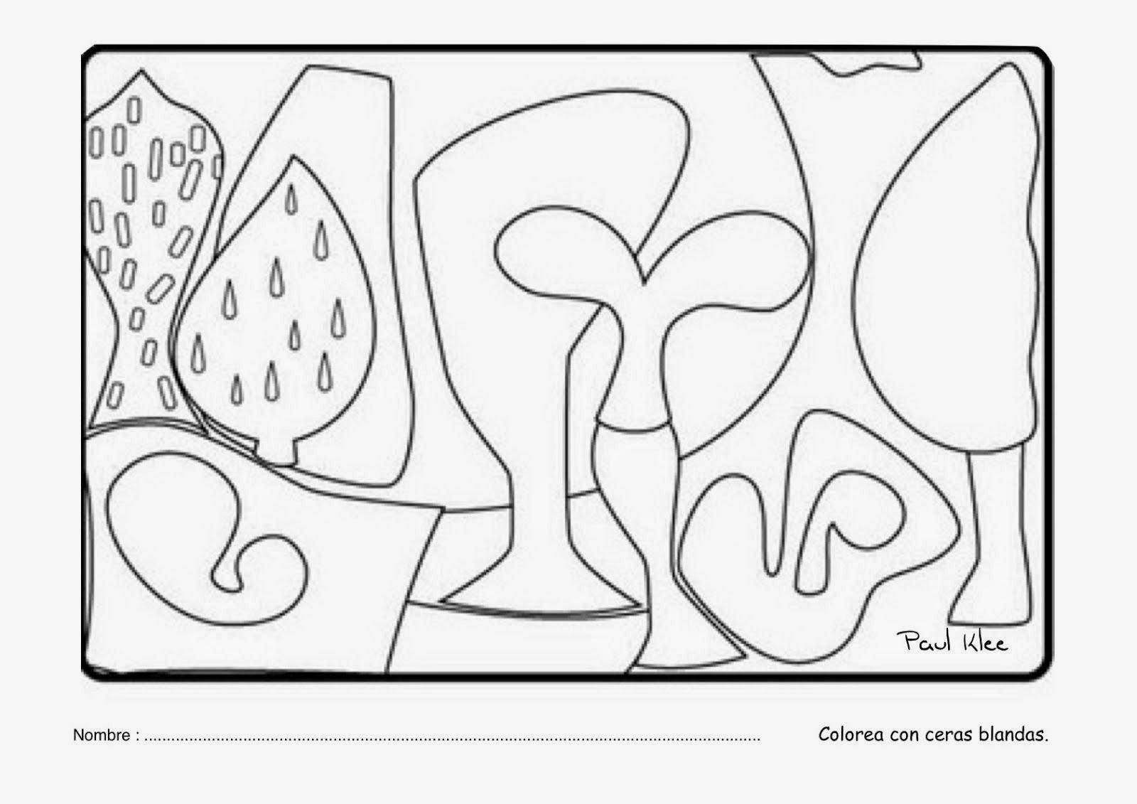 Pintores famosos: Paul Klee para niños. Cuadros para colorear ...