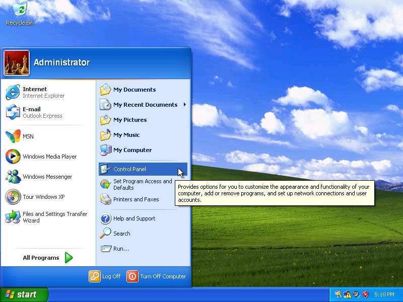 windows xp change keyboard layout